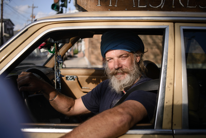 street portrait of taxi driver in New Orleans, LA