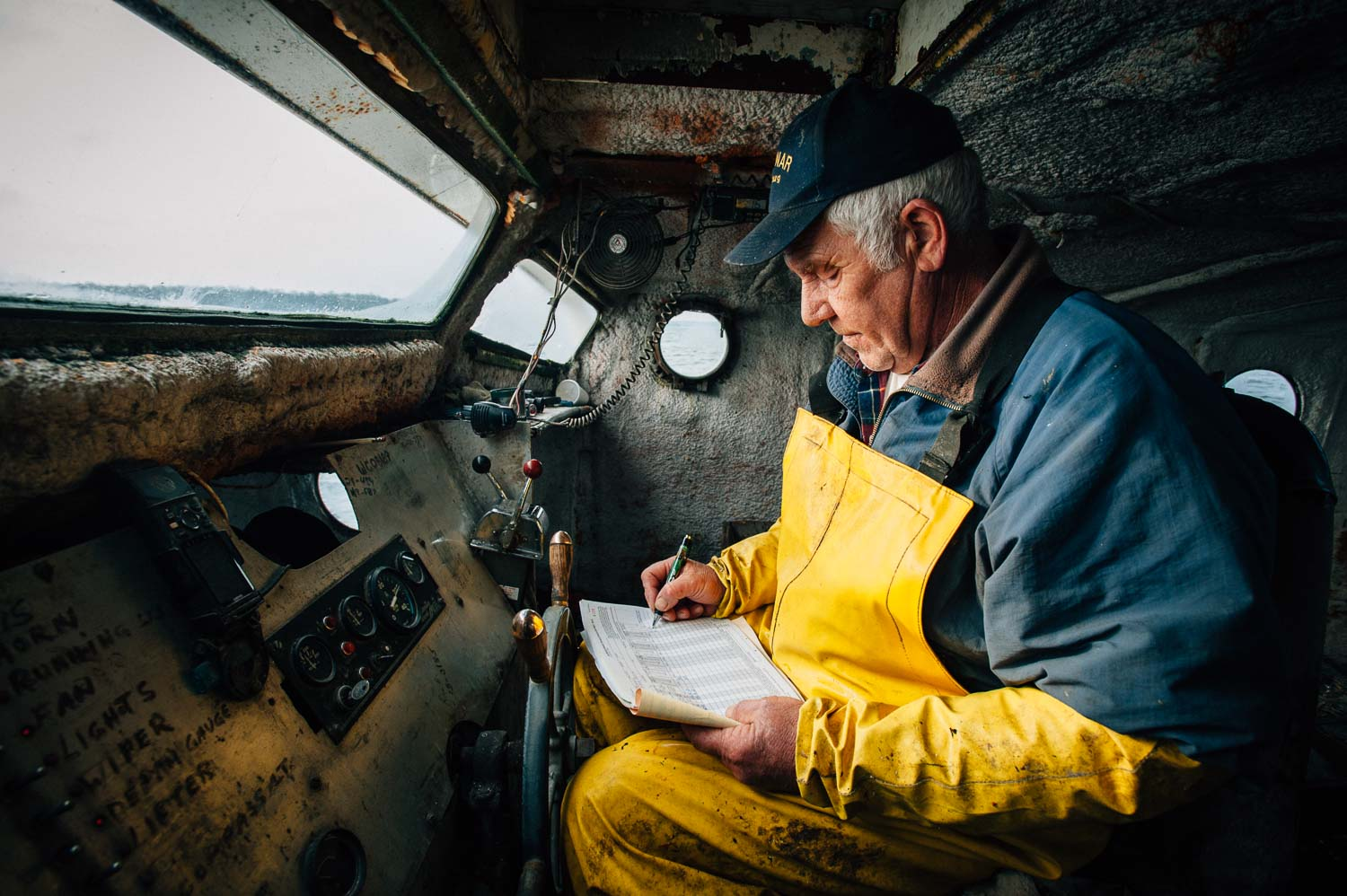 portrait of commercial fisherman from Washington Island
