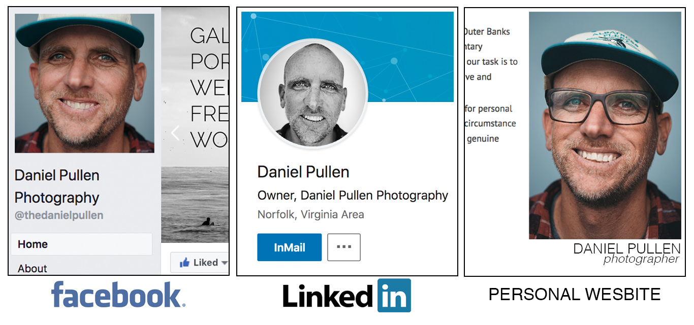 business headshot examples for linkedin profiles, facebook profiles and websites