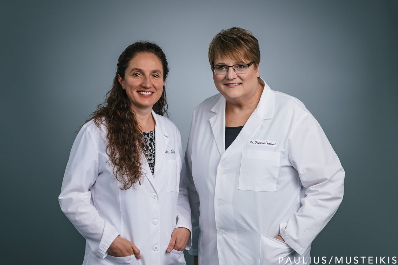 business portrait of two dentists in their Madison, Wisconsin office