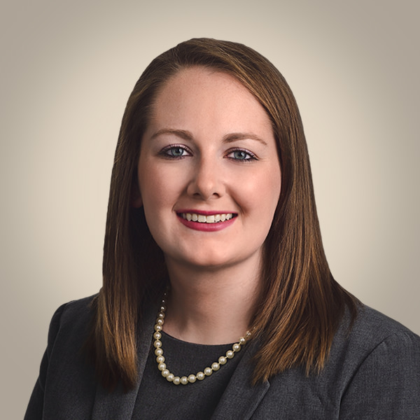 business portrait of female law associate with tint background