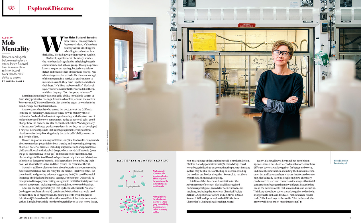 professional business portrait of UW Madison chemistry professor Helen Blackwell