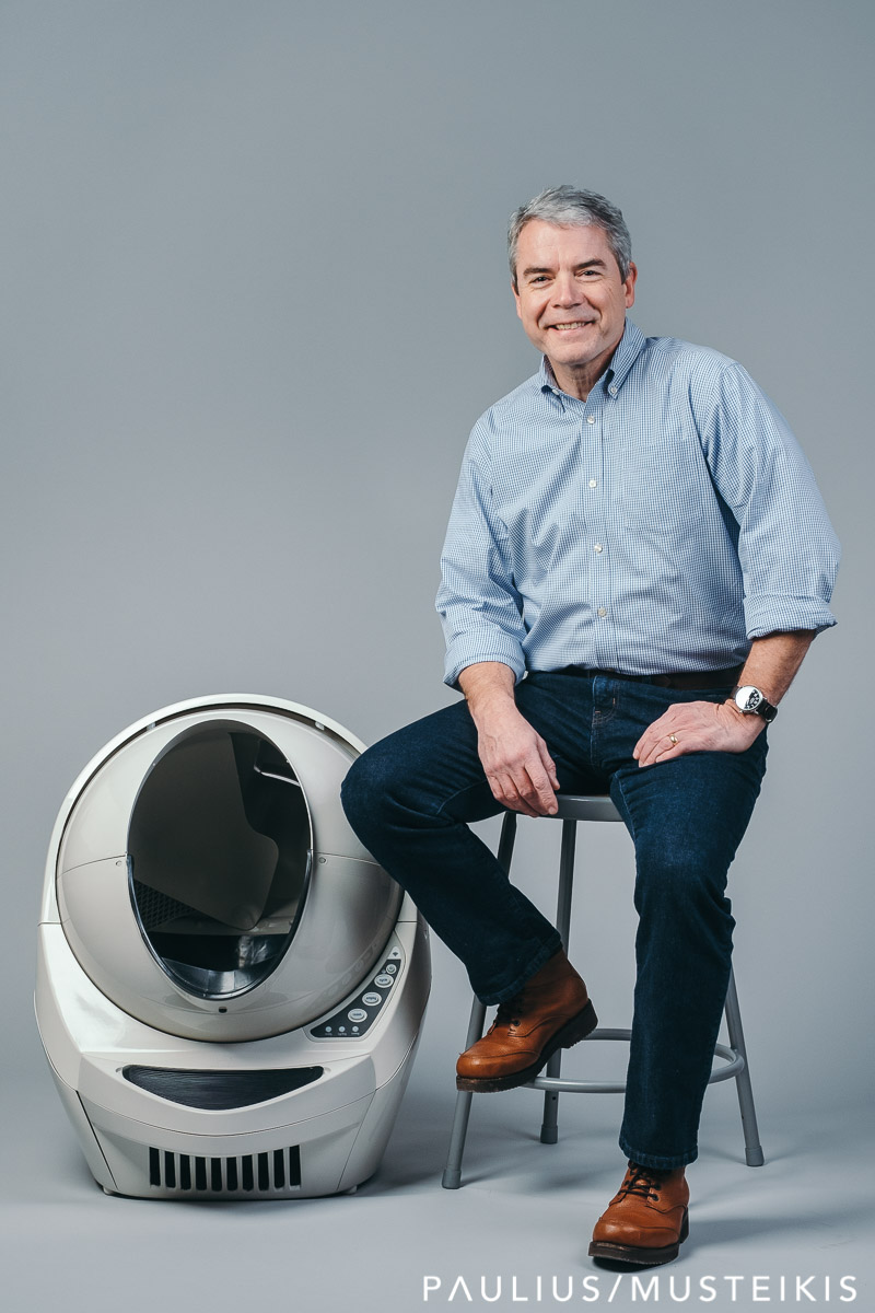 Business portrait of CEO and president of Litter Robot
