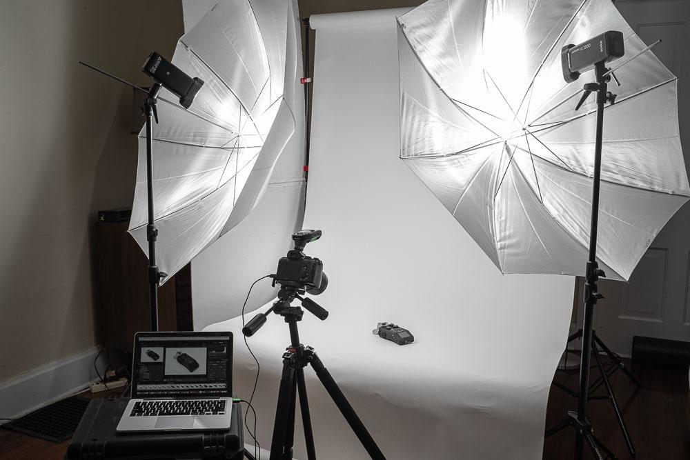 DIY photography studio built at home