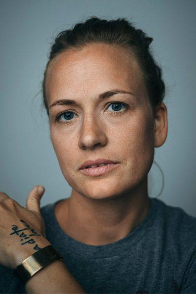 creative portrait of wedding photographer Kara Counard